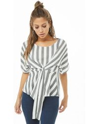 Forever 21 - Striped Self-tie Top - Lyst