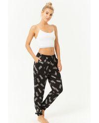 FOREVER21 - Pineapple Print Satin Pajama Pants - Lyst