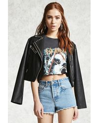 Forever 21 - Frayed Denim Cutoffs - Lyst
