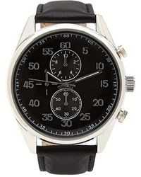 Forever 21 - Men Chronograph Watch - Lyst