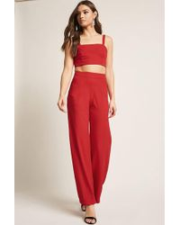 Forever 21 - Cutout Crop Top & Pant Set - Lyst