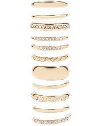 Forever 21 - High-polish Rhinestone Ring Set - Lyst