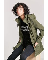 Forever 21 - Hooded Utility Jacket - Lyst