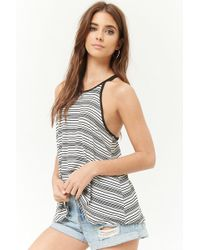 bfe6c21f0325fc Lyst - Forever 21 Camo Cropped Cami in Gray