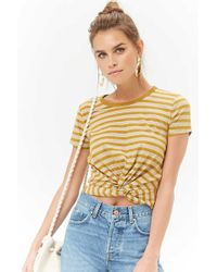 Forever 21 - Striped Twist-front Top - Lyst