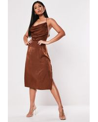 Missguided - Cowl Neck Dress At - Lyst