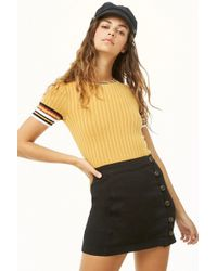 Forever 21 - Button-loop Mini Skirt - Lyst