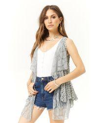 Forever 21 - Open-knit Combo Vest - Lyst