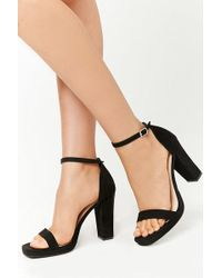 fffdc74557 Forever 21 Strappy Faux Suede Mules in Black - Lyst