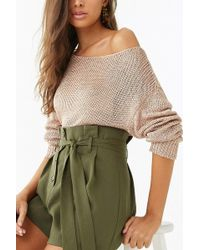 Forever 21 - Women's Ribbed Metallic Sweater - Lyst