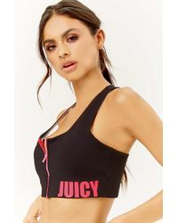 Juicy Couture - Zip-front Sports Bra At - Lyst