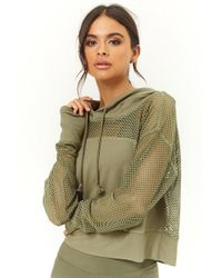 Forever 21 - Active Open-mesh Panel Hoodie - Lyst