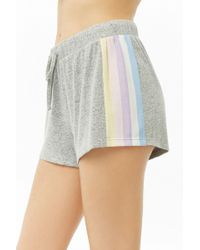 Forever 21 - Striped-trim Marled Shorts - Lyst