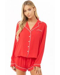 Forever 21 - On The Nice List Graphic Pj Set - Lyst