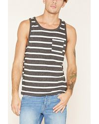 Forever 21 - Heathered Stripe Tank - Lyst