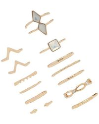 Forever 21 - Geo Stackable Ring Set - Lyst