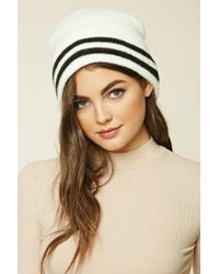 Forever 21 - Striped Ribbed Knit Beanie - Lyst