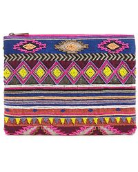 Forever 21 - Colorful Geo Beaded Clutch - Lyst