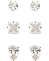 Forever 21 - Faux Crystal Earrings Set - Lyst