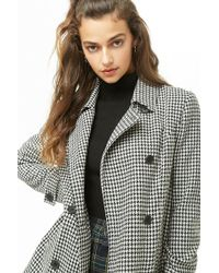 Forever 21 - Houndstooth Double-breasted Jacket - Lyst