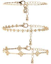 FOREVER21 - Ornate Chain Bracelet Set - Lyst