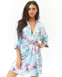 Forever 21 - Pretty Robes Butterfly & Floral Print Robe - Lyst