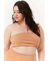 2bf5c414afbcb3 Forever 21 Women s Plus Size Tube Top in Purple - Lyst