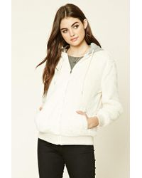 Forever 21 - Hooded Faux Fur Jacket - Lyst
