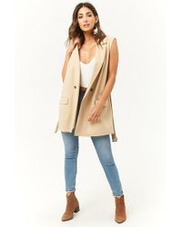 Forever 21 - Longline Double-breasted Vest - Lyst