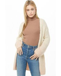 Forever 21 - Fuzzy Ombre Cardigan - Lyst