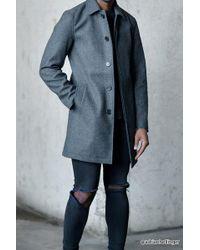 Forever 21 - Woolen Tweed Overcoat - Lyst