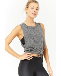Forever 21 - Active Tie-front Muscle Tee - Lyst