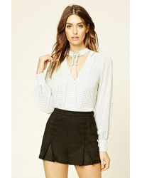 Forever 21 - Women's Contemporary Polka Dot Top - Lyst