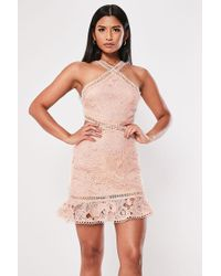 Missguided - Lace Cutout Mini Dress At - Lyst