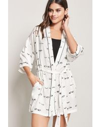 Forever 21 - Eye Graphic Robe - Lyst