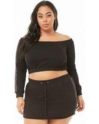 66a2785a9e5 Forever 21 - Women s Plus Size Rainbow Metallic Crop Top   Skirt Set - Lyst