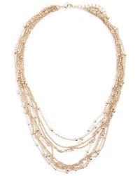 Forever 21 - Beaded Layered Necklace , Gold - Lyst