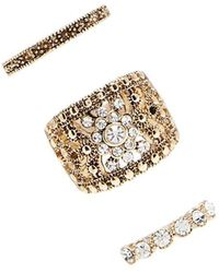 Forever 21 - Burnished Rhinestone Ring Set - Lyst