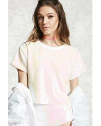 Forever 21 - Iridescent Sequin Top - Lyst
