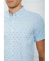 Forever 21 - Triangle Print Slim Fit Shirt - Lyst
