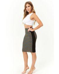 Forever 21 - Multi-striped Midi Skirt - Lyst