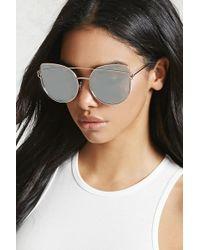 106f486d3f0 Forever 21 Matte Cat-eye Sunglasses in Black - Lyst