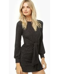 Forever 21 - Tie-front Marled Dress - Lyst