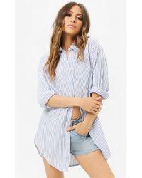 Forever 21 - Pinstriped Shirt Dress - Lyst