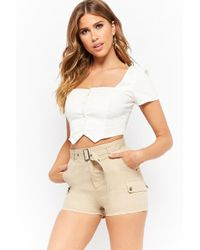 Forever 21 - Snap-button Cargo Shorts - Lyst