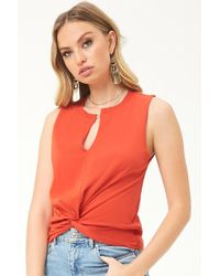 Forever 21 - Twist-hem Top - Lyst