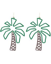 Forever 21 - Palm Tree Drop Earrings - Lyst