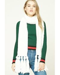 Forever 21 - Tasselled Cable Knit Scarf - Lyst