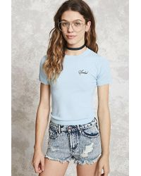 Forever 21 - Spoiled Embroidered Top - Lyst