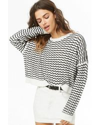 Forever 21 - Zigzag Knit Jumper - Lyst
